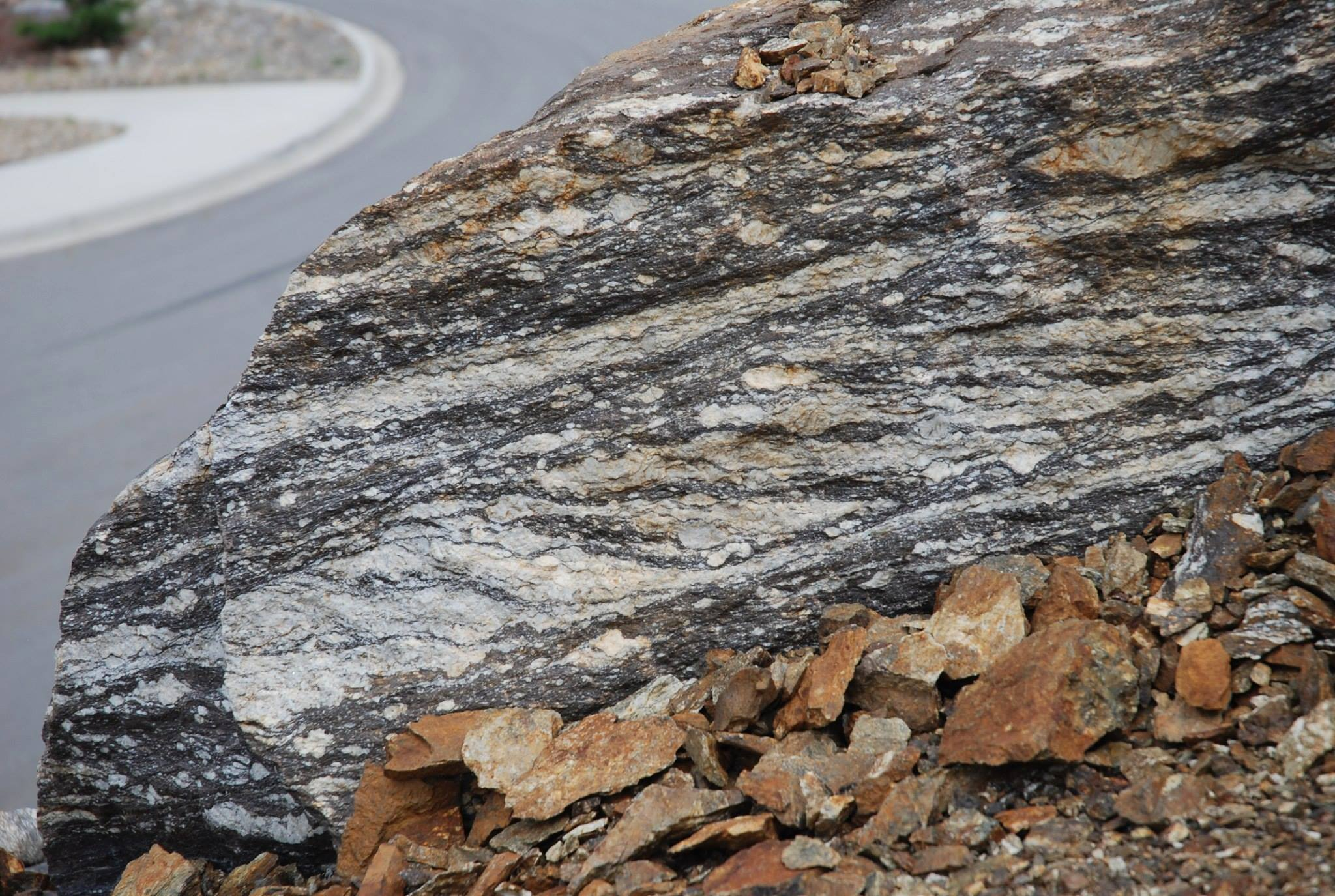 Mylonites of the Monashee detachement, Shuswap core complex, Canada